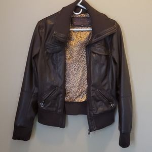 Ci Sono brown leather jacket